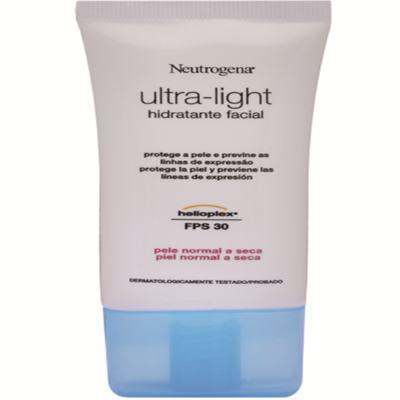 Hidrante Facial Neutrogena Ultra-Light Dia Pele Normal e Seca 55g