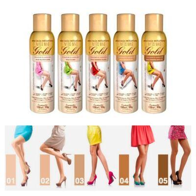 Imagem 4 do produto Meia Calça Instantânea 150ml Gold Nylons - Spray Bronzeador - Muito Clara