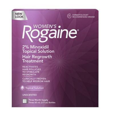 Imagem 1 do produto ROGAINE - MINOXIDIL EM SOLUÇÃO 2% PARA MULHERES - TRATAMENTO PARA 3 MESES - 60ml