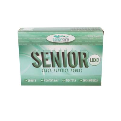 Calça Plástica Bege Com Botão Luxo Senior Care - GG