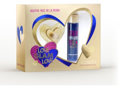 Kit Love Glam Love Agatha Ruiz de La Prada Eau de Toilette Feminino - 80 ml + Shower Gel 100 ml