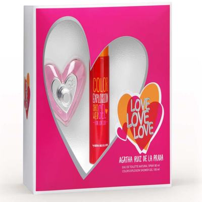 Kit Love Love Love Agatha Ruiz de la Prada Eau de Toilette Feminino - 80 ml + Shower Gel 100 ml