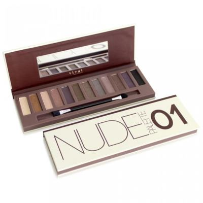 Imagem 1 do produto Paleta de Sombras Nude Glamour 01 Vivai - 12 Cores