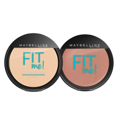 Imagem 1 do produto Fit Me! Maybelline - Pó Compacto + Blush para Peles Claras - Kit