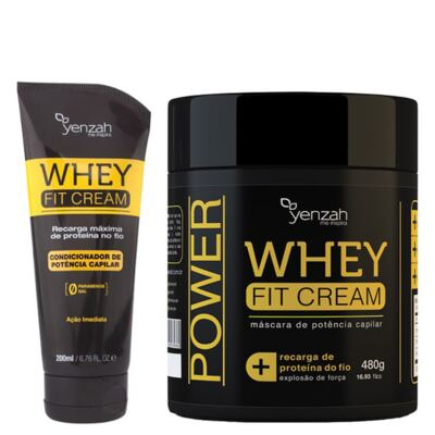 Imagem 1 do produto Kit Condicionador + Máscara Yenzah Power Whey Fit Cream - Kit