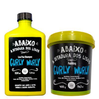 Kit Shampoo + Creme para Pentear Lola Cosmetics Curly Wurly - Kit