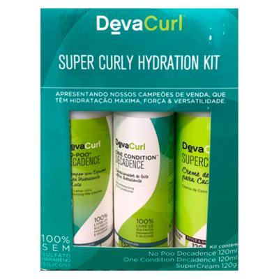 Deva Curl Super Curly Hidratation Decadence Kit - Shampoo + Condicionador + Leave-in - Kit