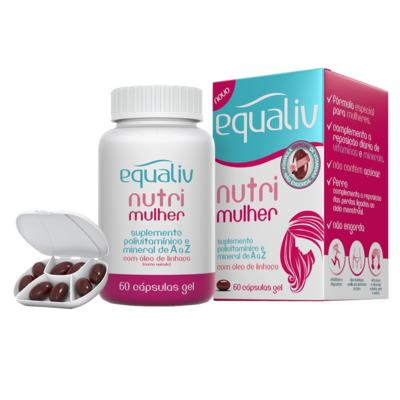 Nutri Mulher Equaliv - Suplemento Polivitamínico - 60 Cáps