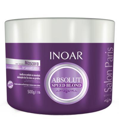 Imagem 1 do produto Inoar Absolut Speed Blond - Máscara Desamareladora - 500g