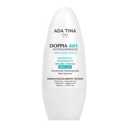 Ada Tina Doppia 48H Antitranspirante Hipoalergênico - Desodorante Antitranspirante Roll-On - 50ml