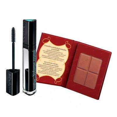 Bourjois Poudre Bronz Delice + Volume Reveal  Kit - Pó Compacto Bronzeador + Máscara para Cílios - Kit
