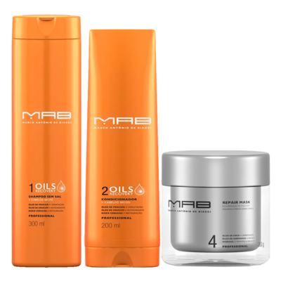 Imagem 1 do produto MAB Oils Recovery Reparação Kit - Shampoo + Condicionador + Máscara Capilar - Kit