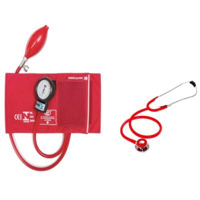 Aparelho de Pressão com Estetoscópio Duplo Vermelho CJ0730 Bic