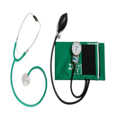 Kit Aparelho de Pressão Verde Com Esteto Simples Verde CJPA103 PA MED