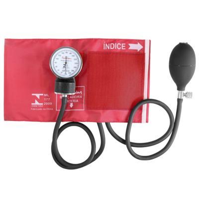 Imagem 2 do produto Kit Esteto Rappaport com Aparelho de Pressão Vermelho Premium