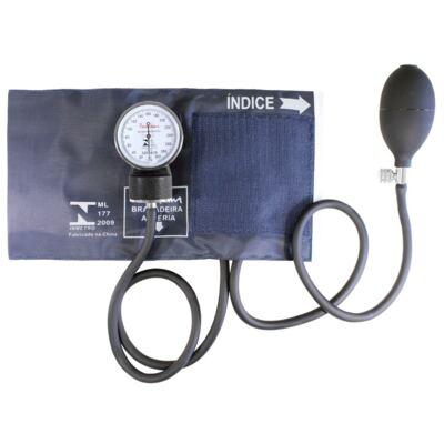 Imagem 1 do produto Kit Esteto Duplo com Aparelho de Pressão Azul Premium