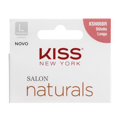 Imagem 4 do produto Unhas Postiças Kiss New York - Salon Natural Longo Estileto - 1 Un