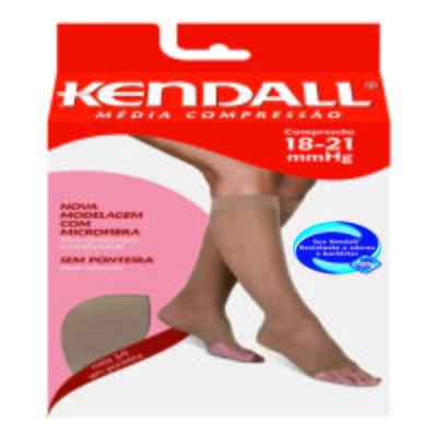 Imagem 1 do produto Meia Panturrilha 18-21 mmHg Média Kendall - MEL PONTEIRA ABERTA GG