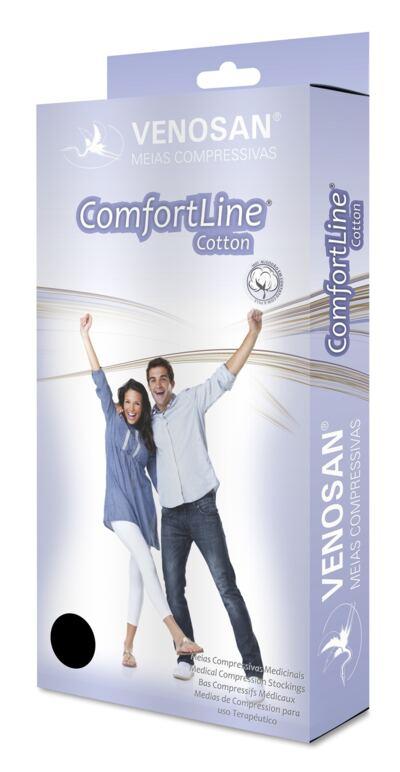 Meia Panturrilha AD 30-40 Comfortline Cotton Venosan - LONGA PONTEIRA ABERTA BEGE XXG