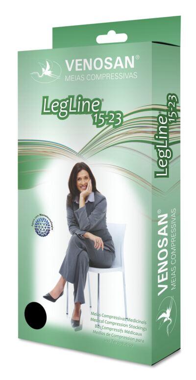 Imagem 1 do produto Meia Calça AT 15-23 mmHg Legline Venosan - PONTEIRA ABERTA SAHARA P