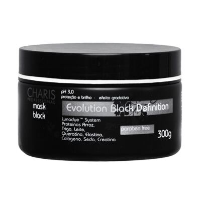 Imagem 1 do produto Charis Evolution Black Definition Mask Black - Máscara Capilar - 250ml