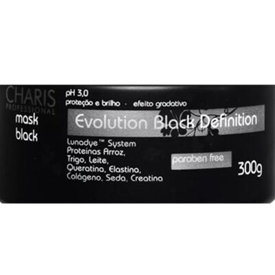 Imagem 2 do produto Charis Evolution Black Definition Mask Black - Máscara Capilar - 250ml