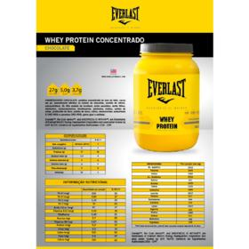 Whey Protein Concentrado 900g - Everlast - Whey Protein Concentrado 900g - Everlast - Chocolate