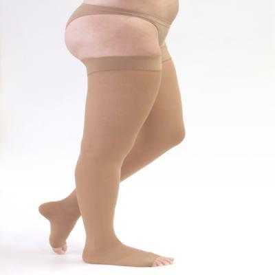 Imagem 1 do produto Meia Coxa 30-40 mmHg Assure Medi - BEGE M PONTEIRA ABERTA