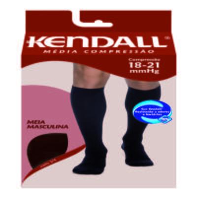 Imagem 3 do produto MEIA PANTURRILHA MASCULINA 18-21 MEDIA KENDALL - PRETO PONTEIRA FECHADA M KENDAL