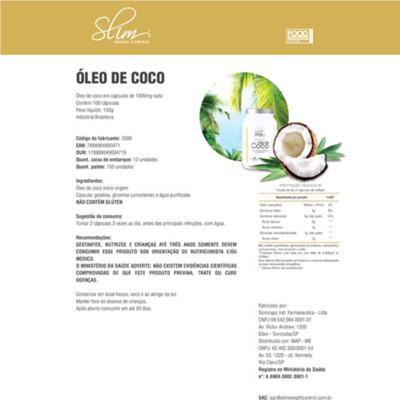 Imagem 2 do produto ÓLEO DE COCO 100CAPS - SLIM -