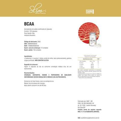 Imagem 4 do produto Kit Slim Whey 900g Morango + 01 BCAA 60 Cáps + 01 Creatina pura 100g  - Slim -