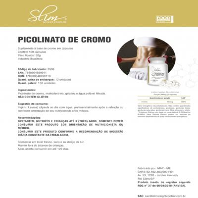 Imagem 3 do produto Kit Slim Ômega 3 60 caps + 01 Complete Multivitamin 30 caps + 01 Picolinato de Cromo 100 caps - Slim -