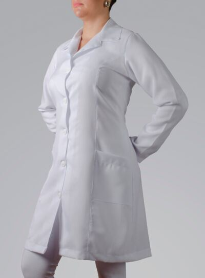 Imagem 3 do produto JALECO FEMININO MANGA LONGA OXFORD - G
