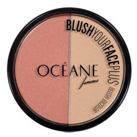 Blush Your Face Plus Océane - Duo de Blush - Coral & Peach - White Pink