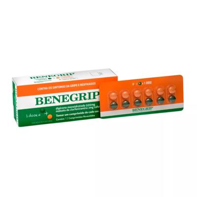 Imagem 1 do produto Benegrip 12 comprimidos