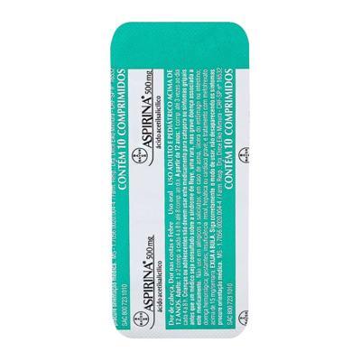 Aspirina AD 500mg 10 comprimidos