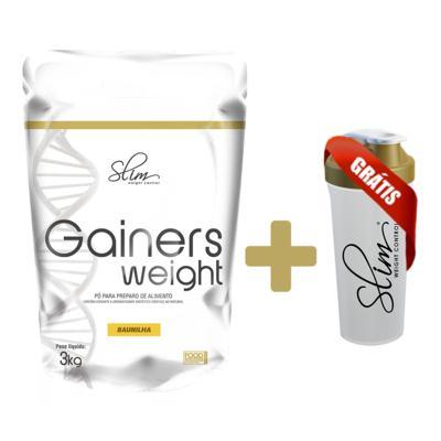 Imagem 3 do produto Gainers Weight Refil 3k - Slim - Baunilha Gratis Uma Coqueteleira. -