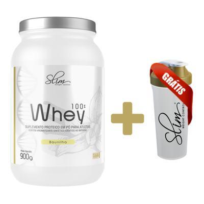 Imagem 3 do produto Whey 100% 900g - Slim - Baunilha Grátis uma Coqueteleira. -