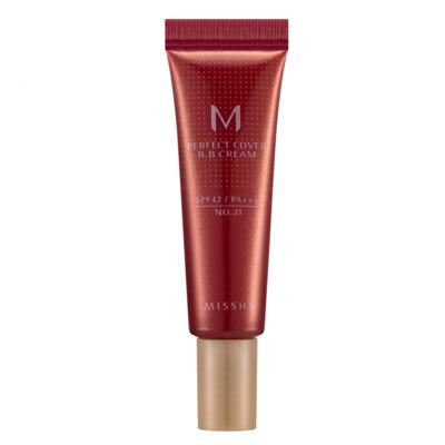 M Perfect Cover BB Cream 10ml Missha - Base Facial - 21 - Light Beige