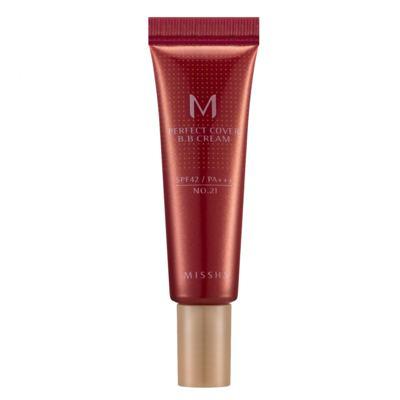 Imagem 1 do produto M Perfect Cover BB Cream 10ml Missha - Base Facial - 21 - Light Beige