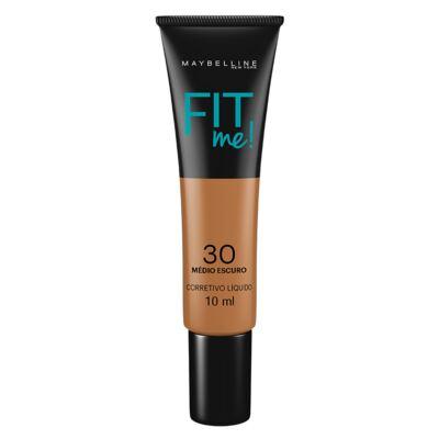Imagem 1 do produto Fit Me! Maybelline - Corretivo Líquido para peles Escuras - 30 - Médio Escuro