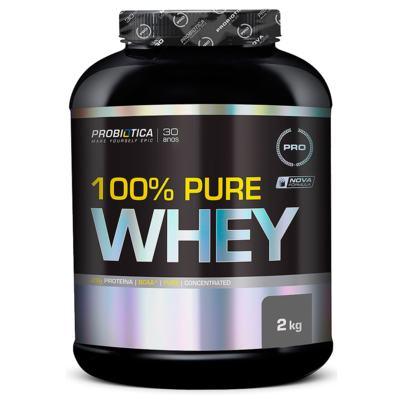 Imagem 2 do produto 100% Pure Whey Protein 2kg Morango Probiótica