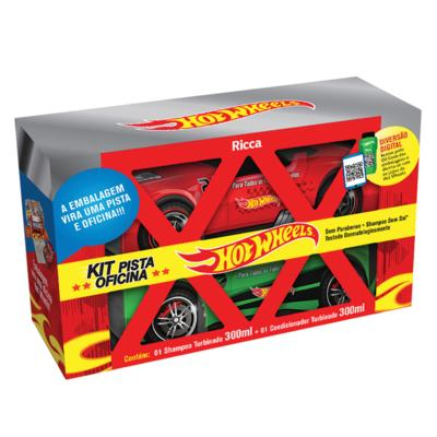 Ricca Hot Wheels Pista Oficina Kit - Shampoo + Condicionador - Kit