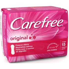 Protetor Diário Carefree Original - Com Perfume | 15 unidades