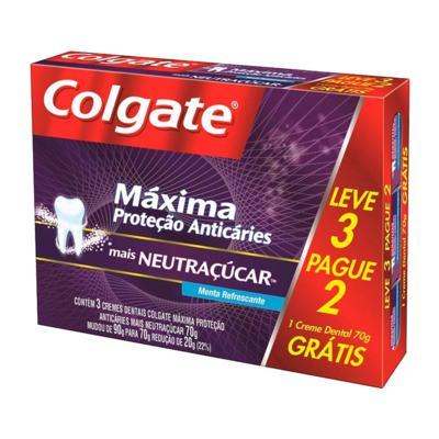 Kit Creme Dental Colgate Neutraçucar 70g Leve 3 Pague 2