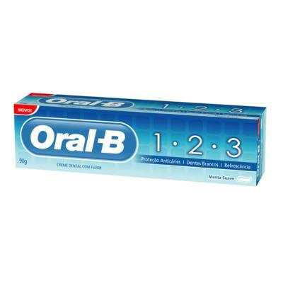 Imagem 1 do produto Creme Dental Oral-B 123 Menta Suave 70g