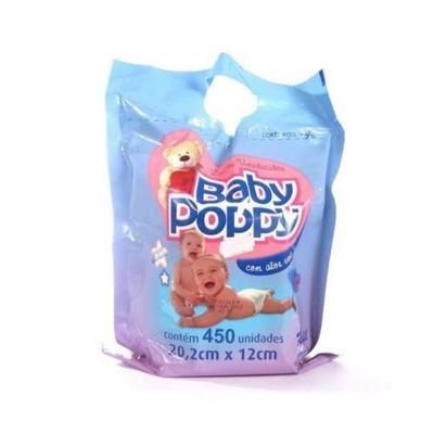 Lenço Umedecido Baby Poppy Refil 450 unidades