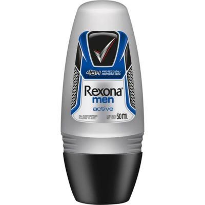 Desodorante Roll-On Rexona Masculino Active 50ml - 50mL