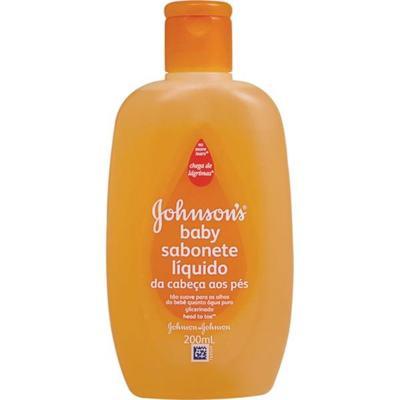 Imagem 2 do produto Sabonete Líquido Johnson's Baby Banho Glicerinado Da Cabeça Aos Pés 200ml -