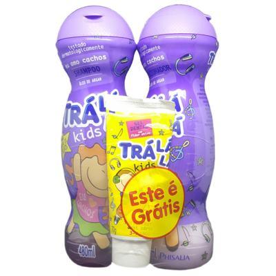 Imagem 1 do produto Kit Trá Lá Lá Kids Shampoo + Condicionador + Grátis Gel Dental Trá Lá Lá Kids